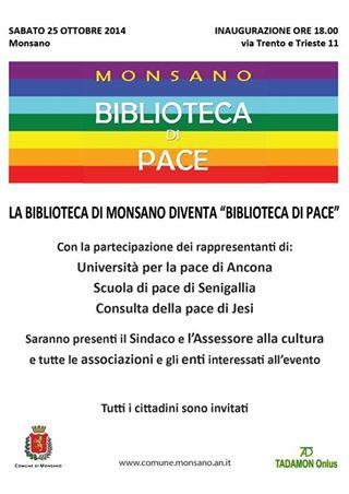 Inaugurazione Biblioteca di Pace – Monsano 2014